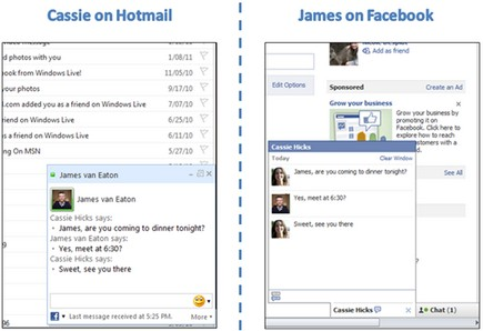 Facebook Hotmail Chat
