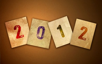 Happy New Year 2012 Calendar